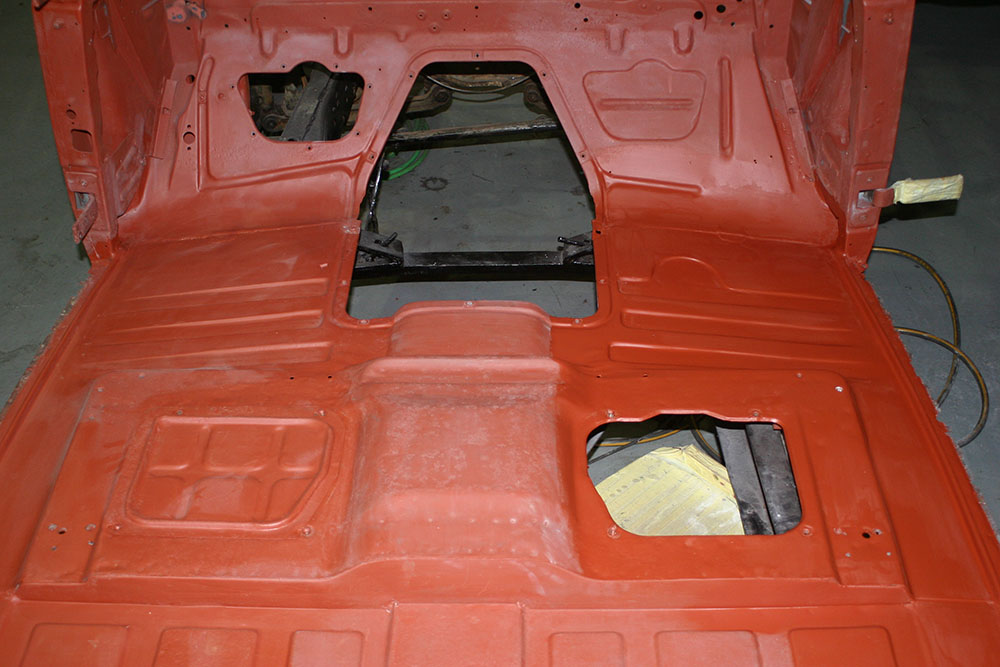 Pan5 - 1947 Cadillac Fleetwood after repair work finished of floor pans